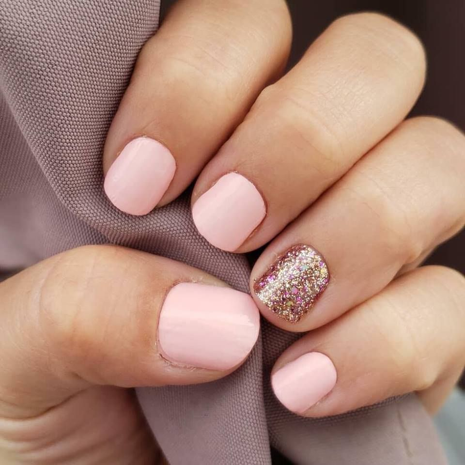 Pink And Glitter Nails Kids Nail Designs Gel Nails Nails For Kids