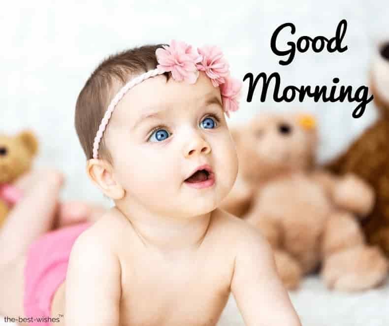 100 Cute Good Morning Baby Images And Pictures For Whatsapp Cute Good Morning Images Cute Good Morning Good Morning Photos