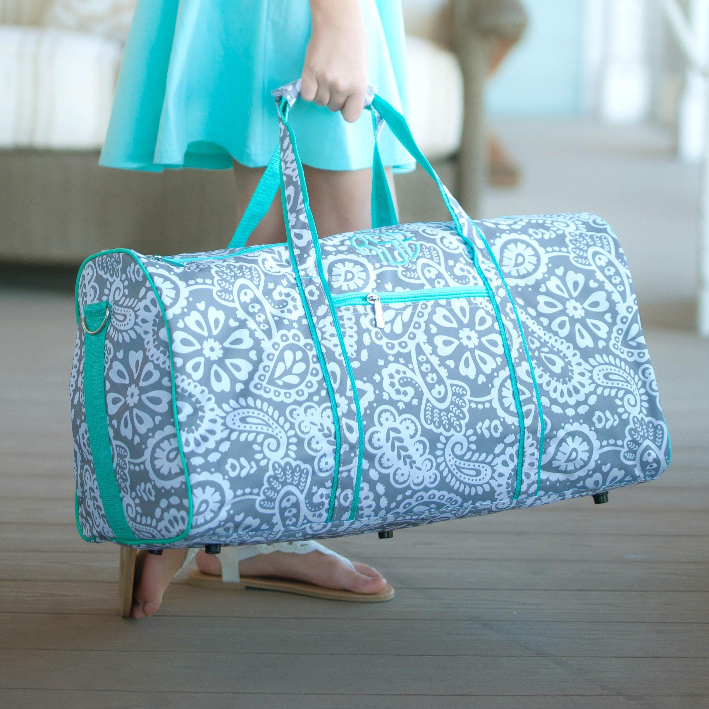 Personalized Large Barrel Duffel Bag Kids Teen Travel Cute girls   boys  duffle bag beautifully monogrammed custom embroidery included! Kids duffle  bags are ... 80fcc3dbaf92e