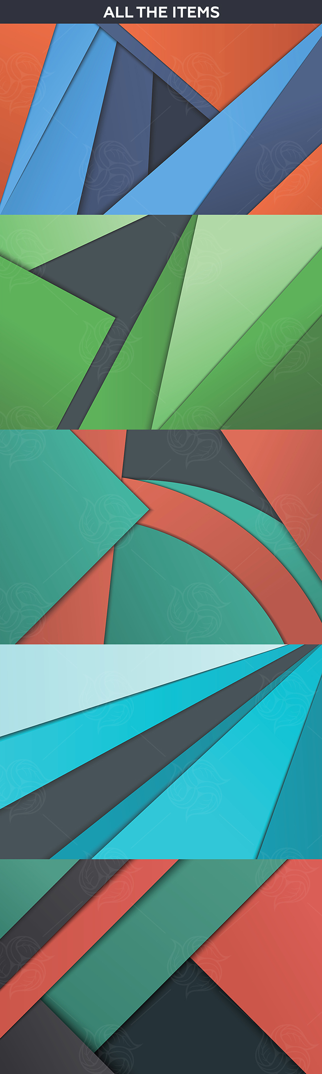 Unusual modern material design vector backgrounds
