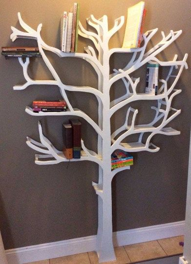 Bookshelf Tree By RusticHut On Etsy