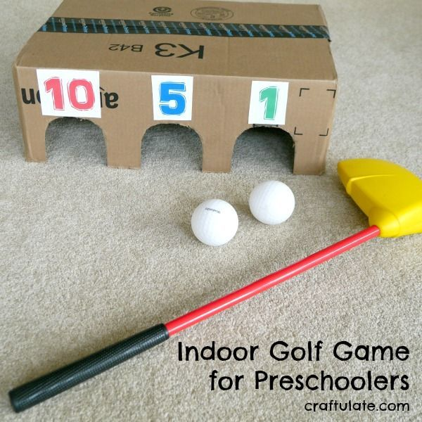 This golf game can be played inside and is easy to make from a ...