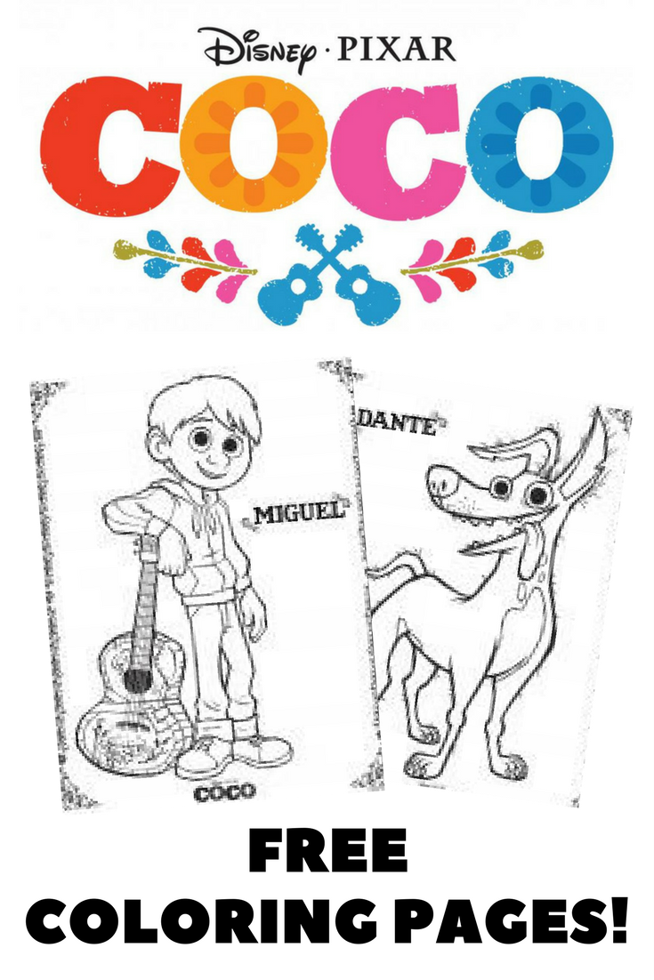 Disney S Coco Coloring Pages Print And Color These Fun Coloring Pages And Activity Sheets From T Coloring Pages Free Kids Coloring Pages Disney Coloring Pages
