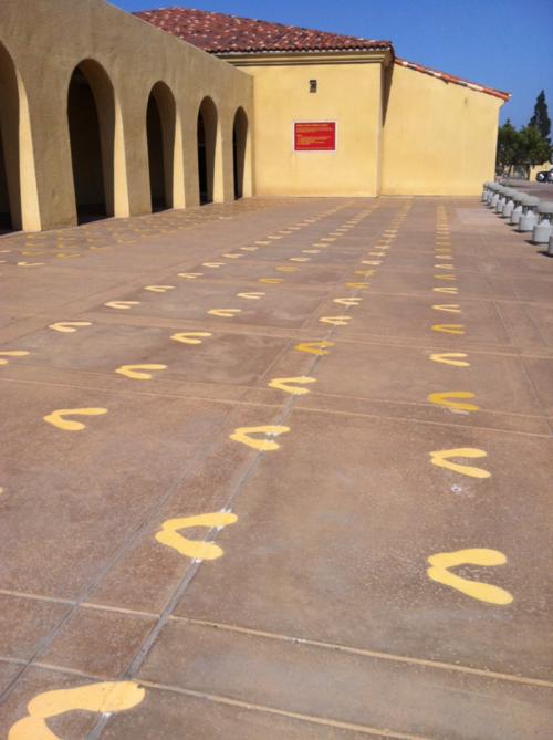 The Historic Yellow Footprints Military Marines Mcrd San Diego Us Marine Corps