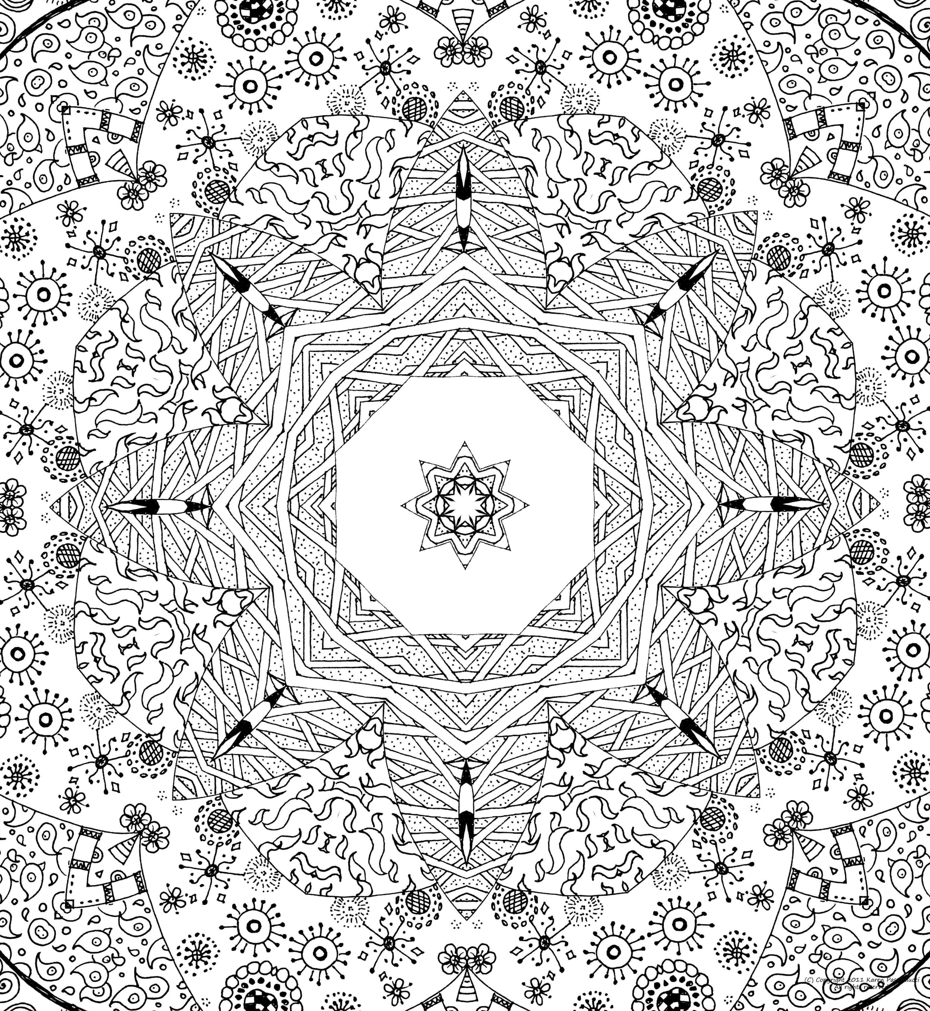 Stress relief coloring pages mandala - Detailed Coloring Pages For Adults Please Use The Mandala For Your Personal Growth And Delight
