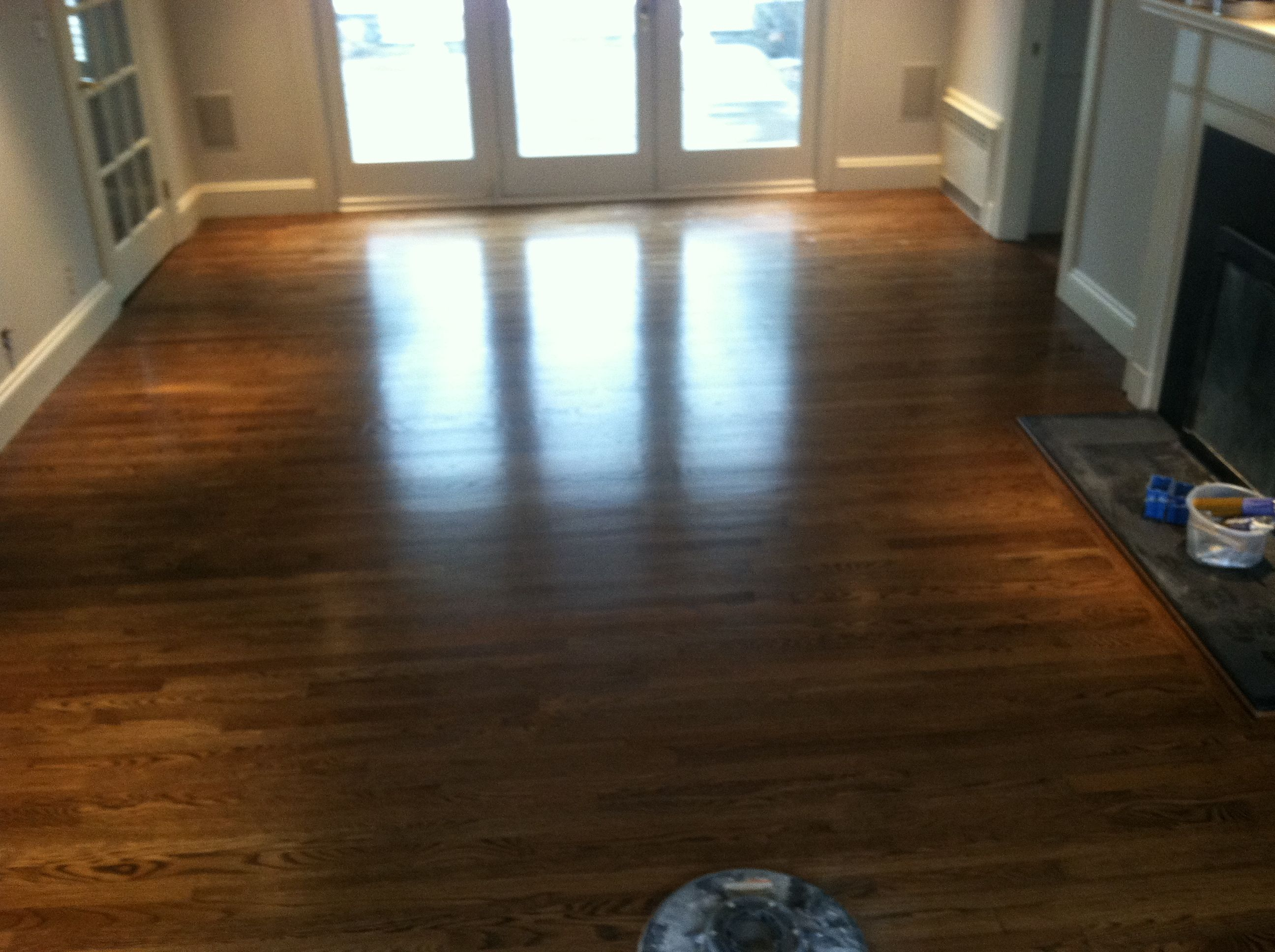 Dark Walnut Stain With Semi Gloss Polyurethane Hardwood Floors Wood Floor Design Wooden Flooring