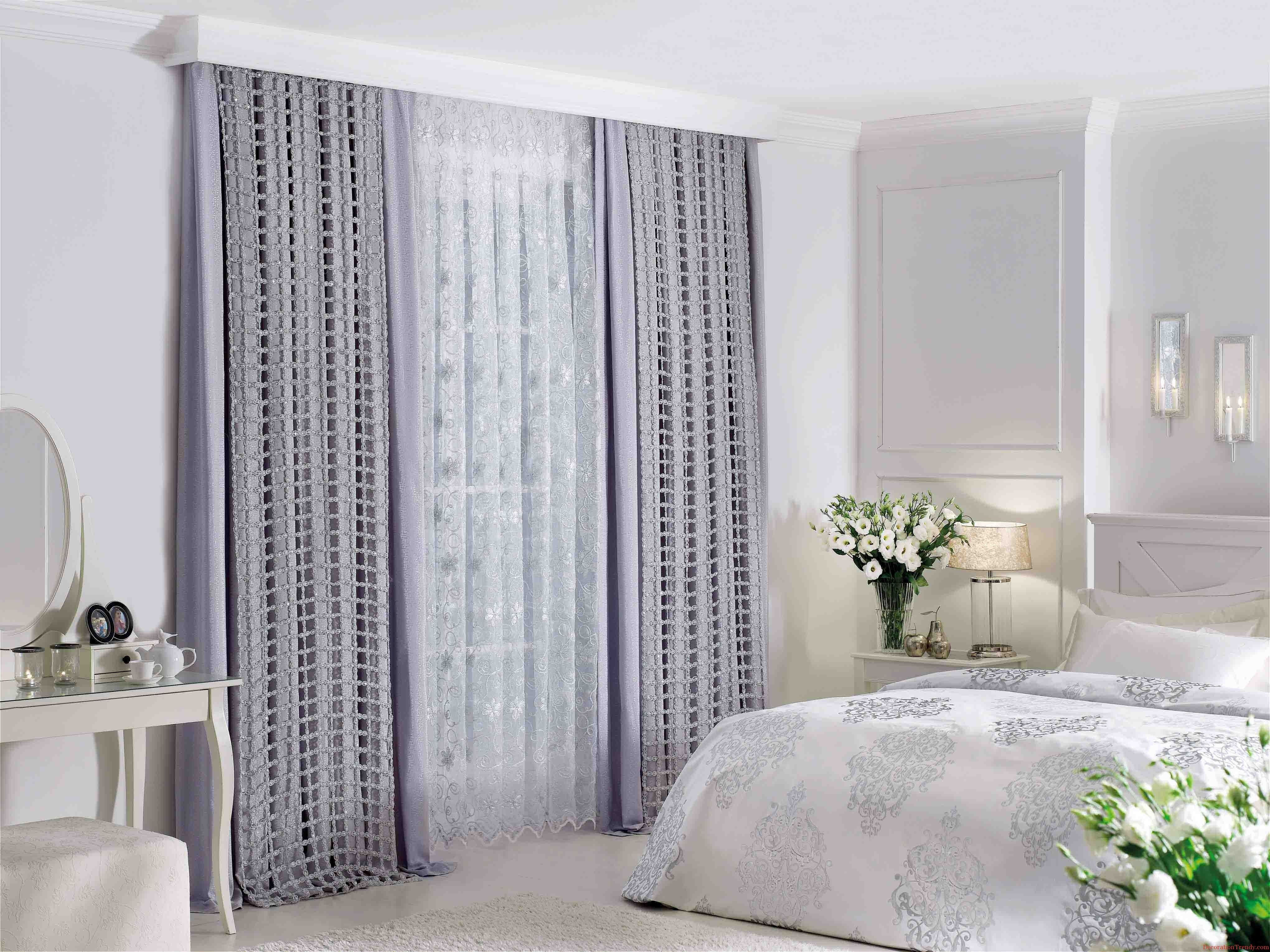 White Grey Blue Window Drapesideas Decorations Awesome Gray