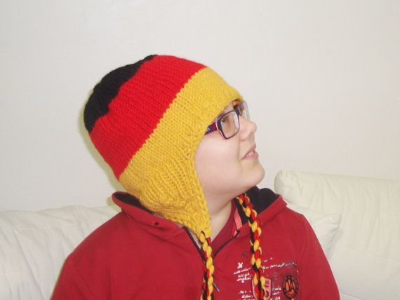 d9dfbf0f Germany Flag Hat for Mens Hat with Earflap Hat in by earflaphats ...