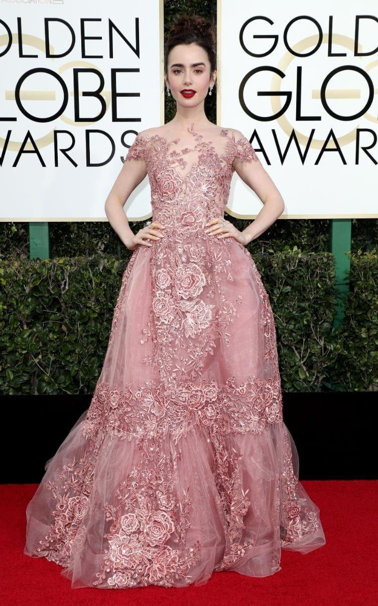 Lily Collins in Zuhair Murad | Dresses | Pinterest | Vestiditos