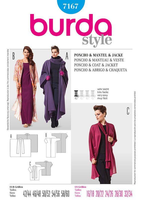 Burda 7167 Sewing Pattern Kaftan Kimono Deco Style by OhSewCouture ...