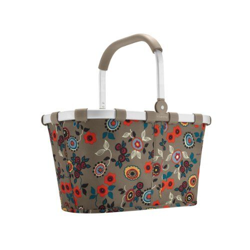 JanetBasket Large Aluminum Frame Basket-18 inch x 10 inch x 9.5 inch Peony Metal