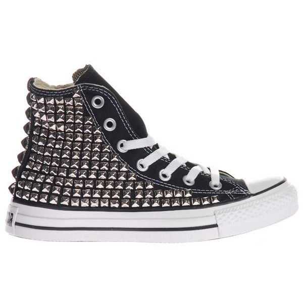 5cfc2057369f6c LA SHOPPER Converse Sneaker Studs Customized Converse sneakers with silver  studs.