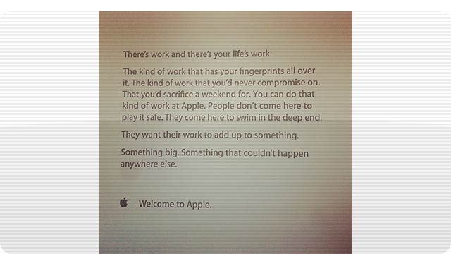 The Inspirational Note Apple Gives To New Employees On Their First