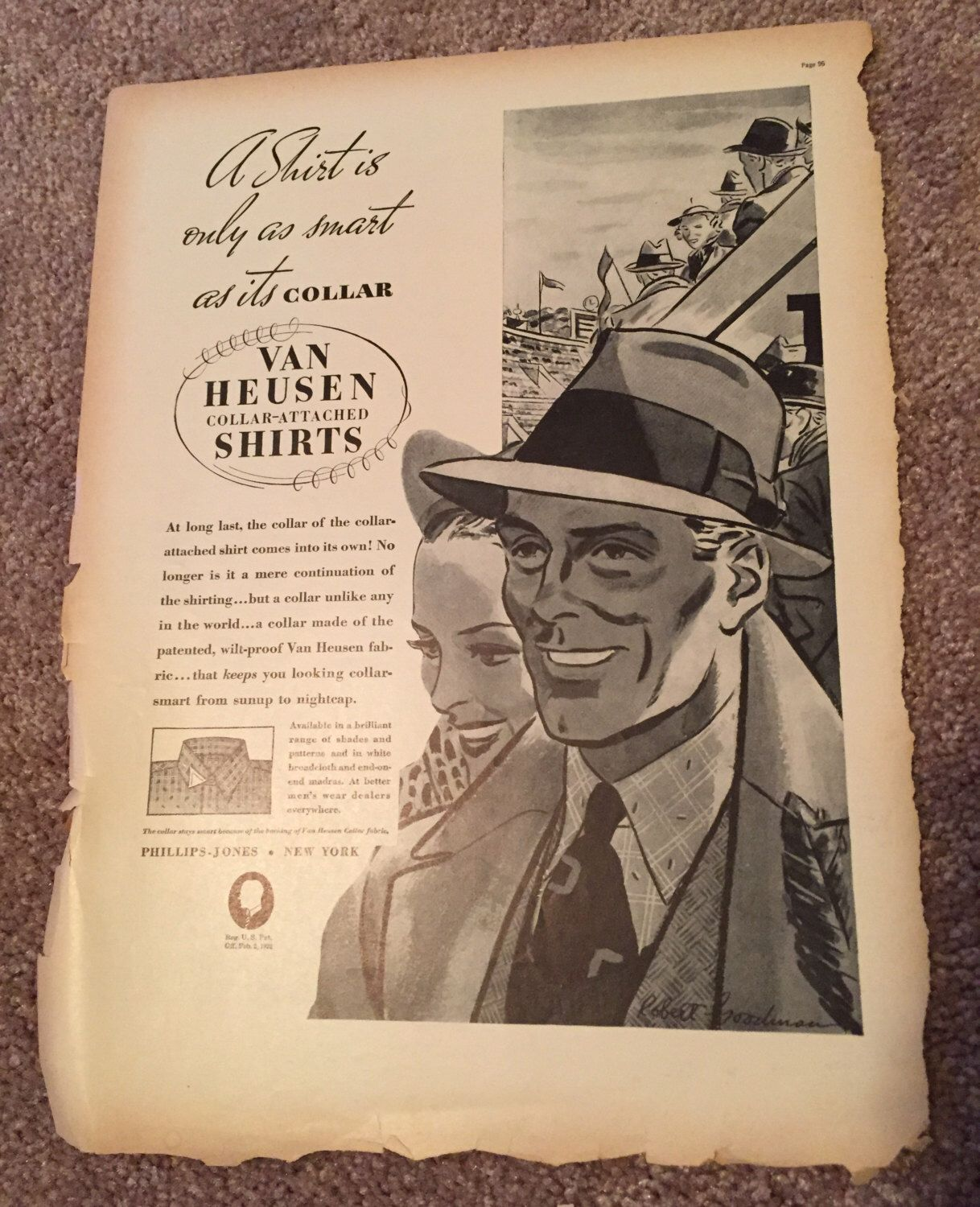 A personal favorite from my Etsy shop https://www.etsy.com/listing/253518515/vintage-van-heusen-ad