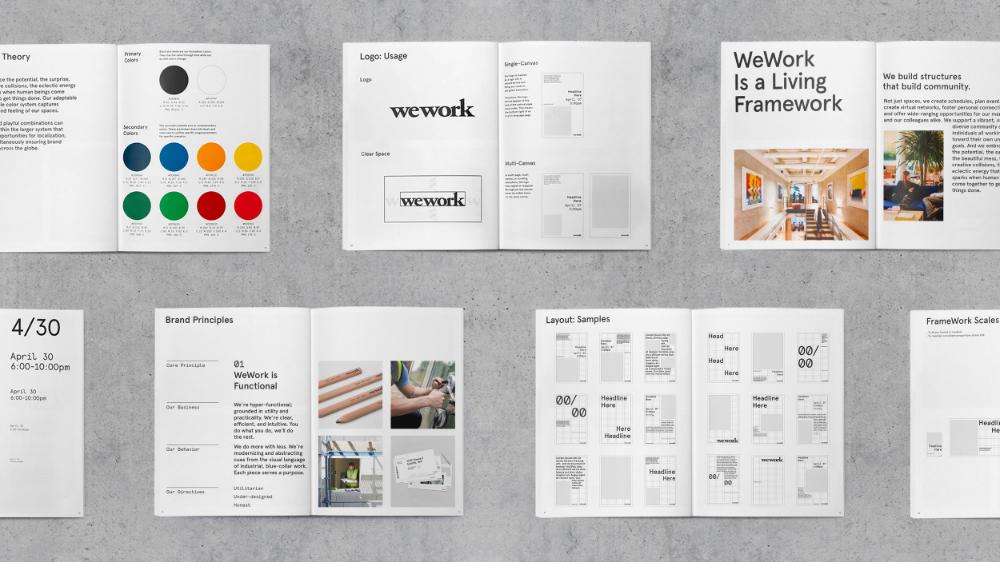 Wework Gretel Graphic Design Firms Identity Brand Fonts