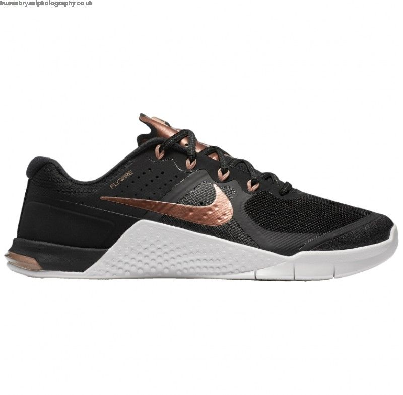 Buy Discount Nike Womens Metcon 2 Training Shoes Black rose Gold