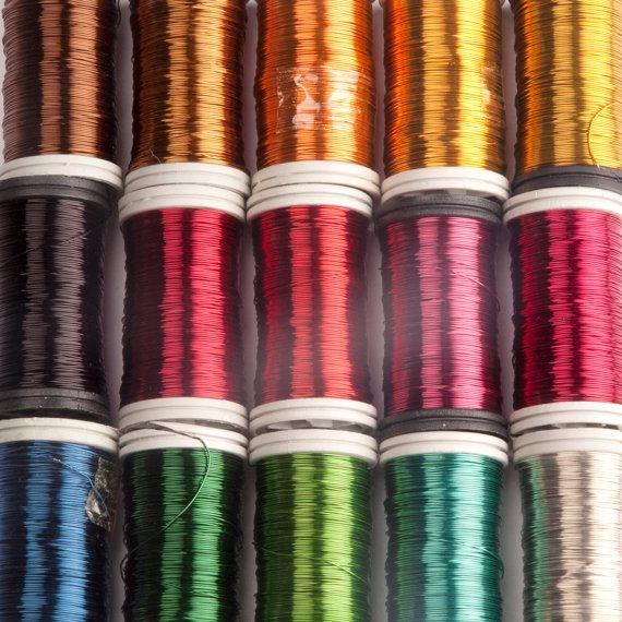 Craft supply Copper wire 28 Gauge wire wire crochet by Yoola ...