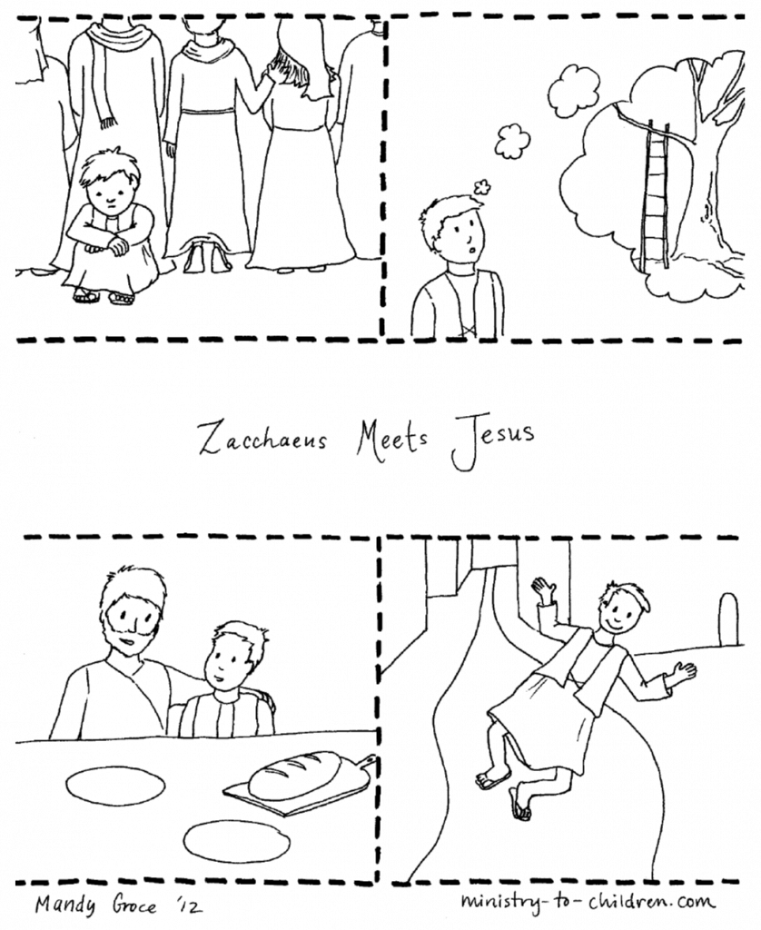 Zacchaeus Coloring Page Sunday School Coloring Pages Zacchaeus Jesus Coloring Pages