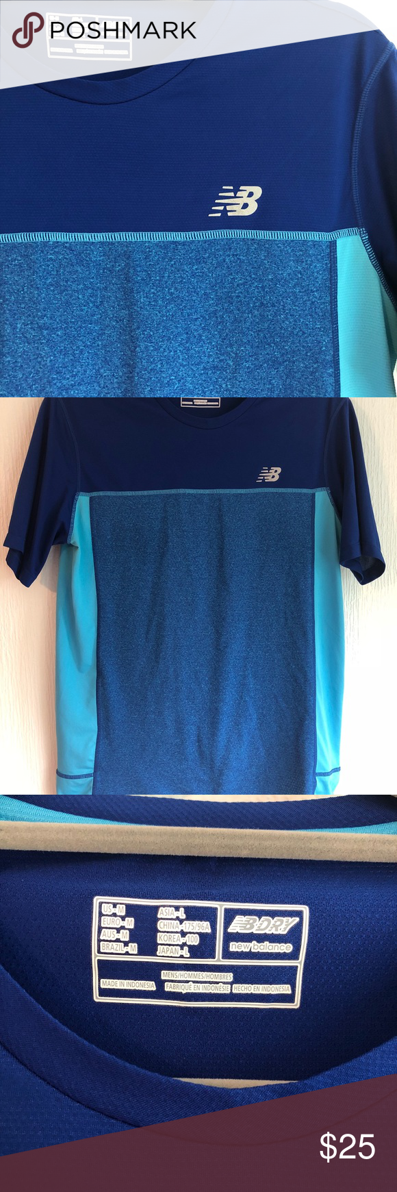 14ce01b7c379f Men's NB Dry Fit Athletic T-Shirt Excellent condition New Balance Dry fit  athletic t-shirt. Men's size medium. Perfect for the gym, running, & sports,  ...