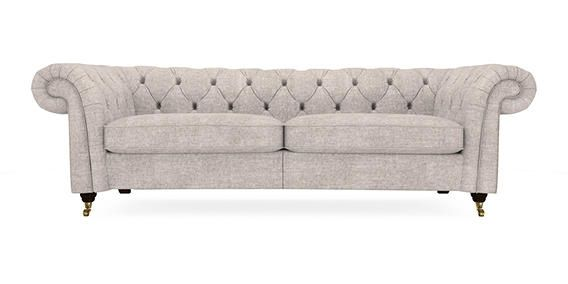 sumptuous design ideas english style sofa. Buy Gosford Buttoned Large Sofa  3 Seats Sumptuous Velour Mid Silver Castor Dark