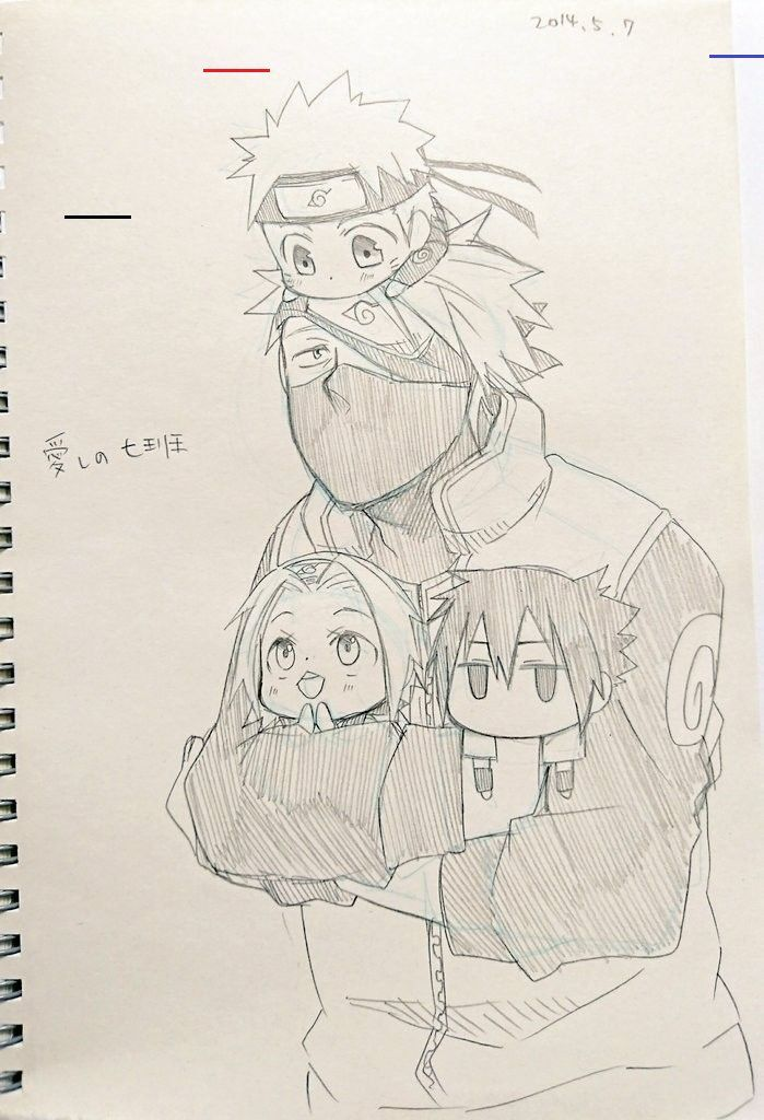 Photo of Kakashi-Sensei taking care of Naruto, Sakura & Sasuke#care #kakashi #kakashisensei #naruto #sakura #sasuke #sensei #taking