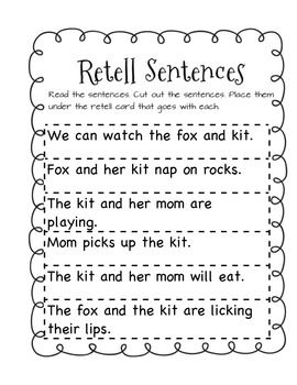 A Fox and a Kit-Supplemental Materials First Grade Reading ...