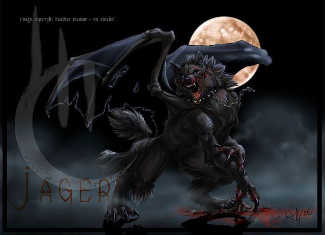 Anime Cool Dragon Werewolf All Hallows Eve And Werewolves Demon