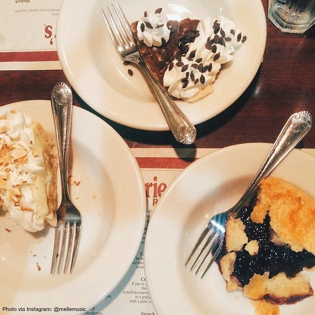 Pick one: Chocolate, Banana Cream, or Blueberry? #MarieCallenders #Pie #Dessert