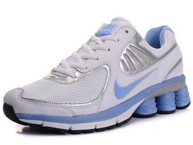 buy online 118ea e2b18 Chaussures Nike Shox QB Argent  Blanc  Bleu  nike 12107  - €51.94   Nike  Chaussure Pas Cher,Nike Blazer and Timerland www.facebook.com .