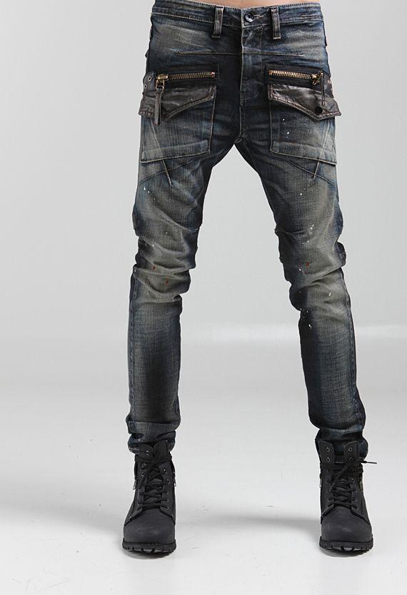 Details about mens denim motorcycle jeans pants hip hop korean ...