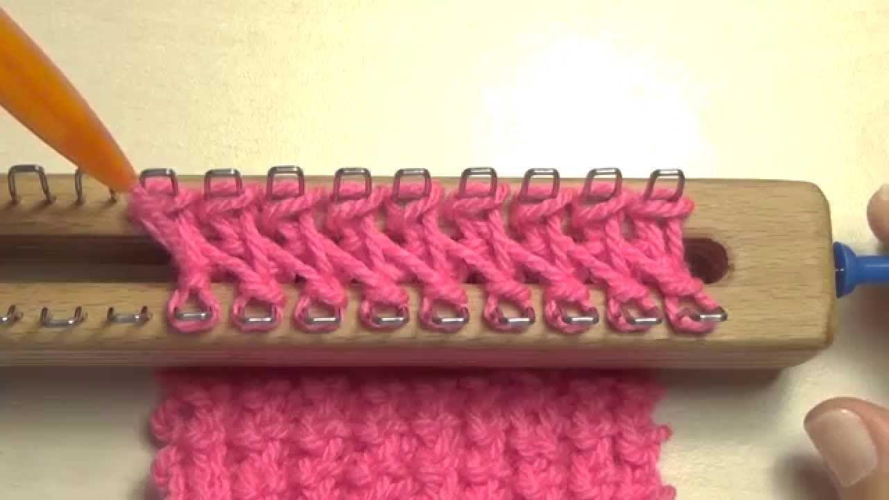strickstab strickrahmen 5 herzchen noppen muster - Strickrahmen Muster