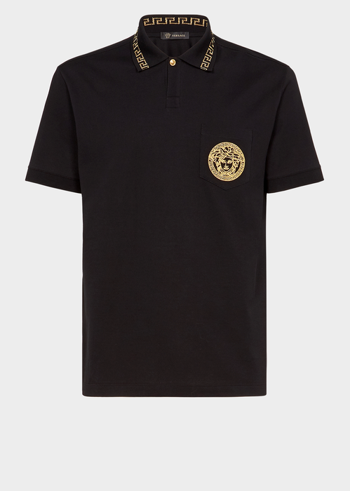 9a28c5e45 VERSACE Embroidered Medusa Polo Shirt. #versace #cloth # | Versace ...