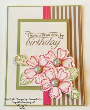 Stampin'Up! Birthday Blossoms stamp set, Envelope Paper, Mojo Monday, #lisapretto #inkbig