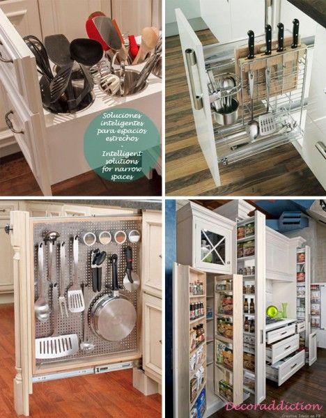 81 orden ideas de almacenaje para la cocina organisation - Mueble almacenaje cocina ...