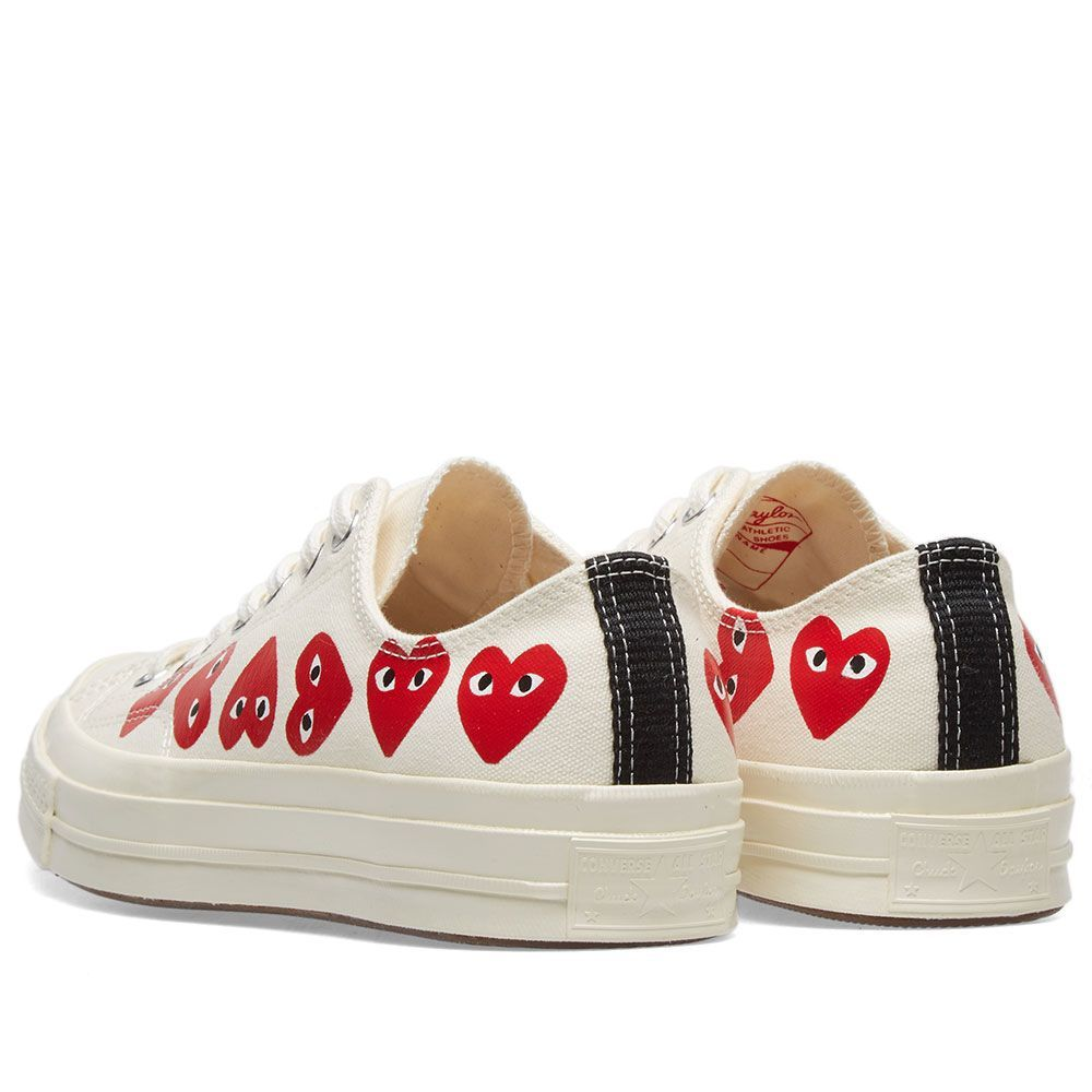 ácido Mil millones Favor  Comme des Garcons Play x Converse Chuck Taylor Multi Heart 1970s Ox in 2021  | Sneakers fashion, Trendy shoes sneakers, Outfits with converse