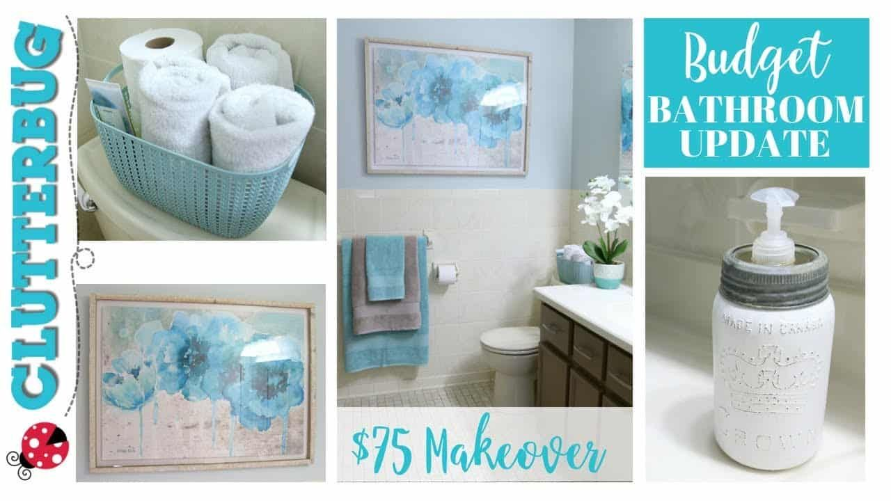 5 decorating tips to update your bathroom on a budget on fast and easy ways to refresh your home on a budget id=21976