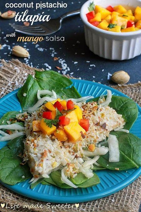 Coconut pistachio crusted fish