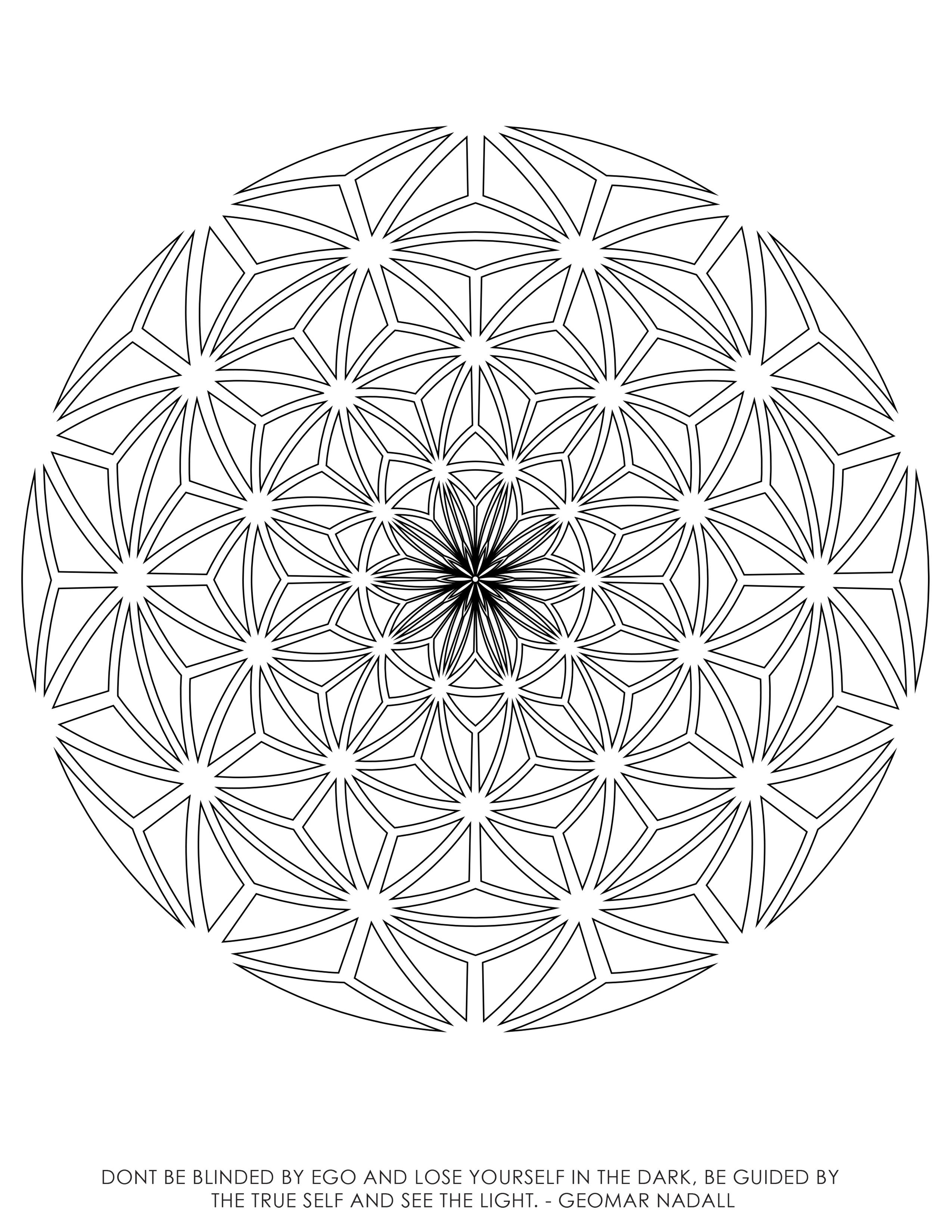 geometric coloring page # 16