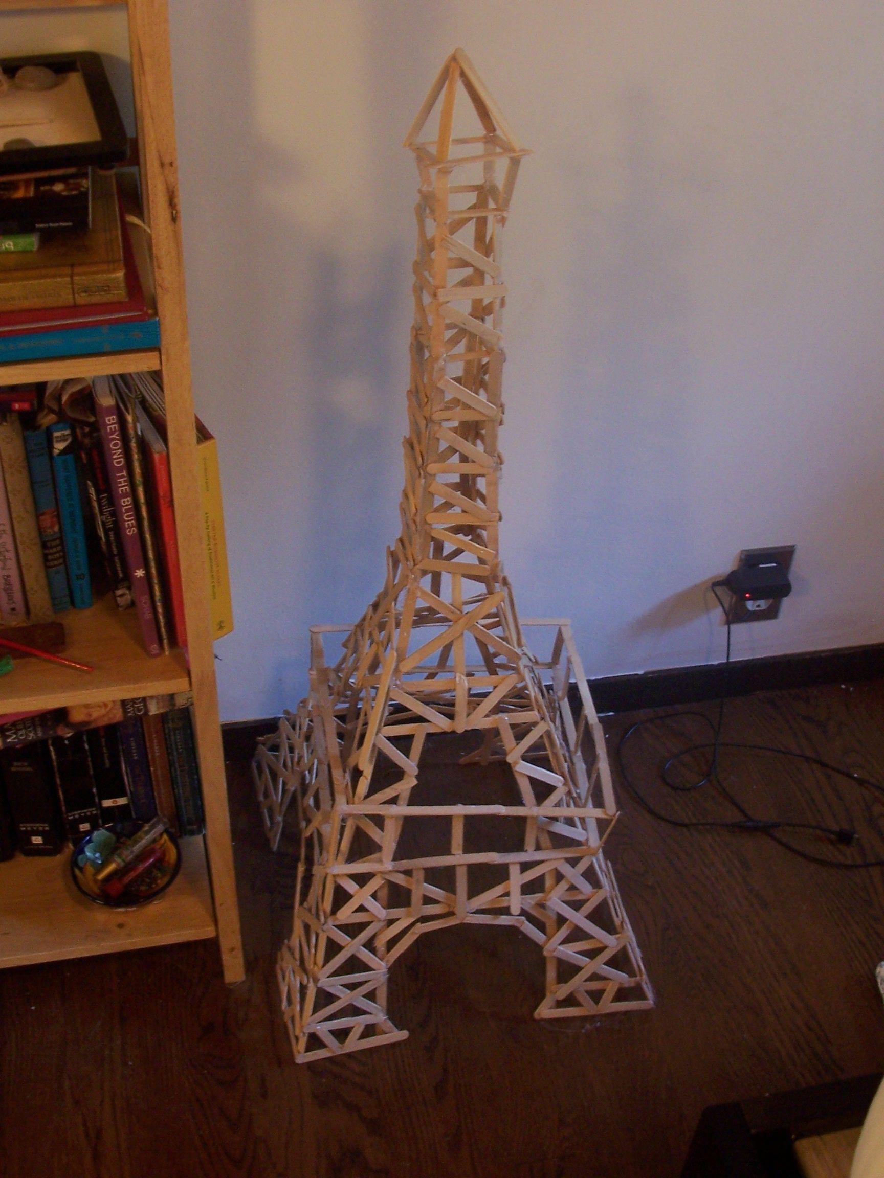 Popsicle Stick Tower Crafts Models Craft