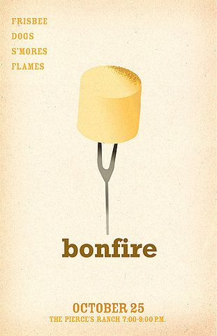 minimalist bonfire invitations event planning pinterest