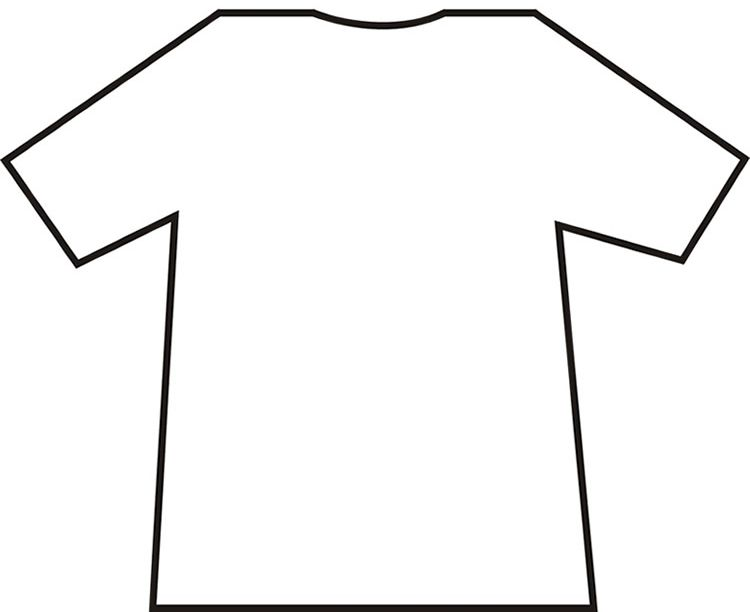 photo regarding Printable T Shirt Template identified as Free of charge T-Blouse Template~ Learners embellish their t-blouse with