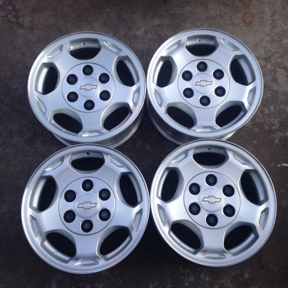 Set Of Four Chevy Wheels Rims 16 Silverado Tahoe Avalanche 5154 03 04 05 06 Chevy Wheels Wheel Rims Wheel