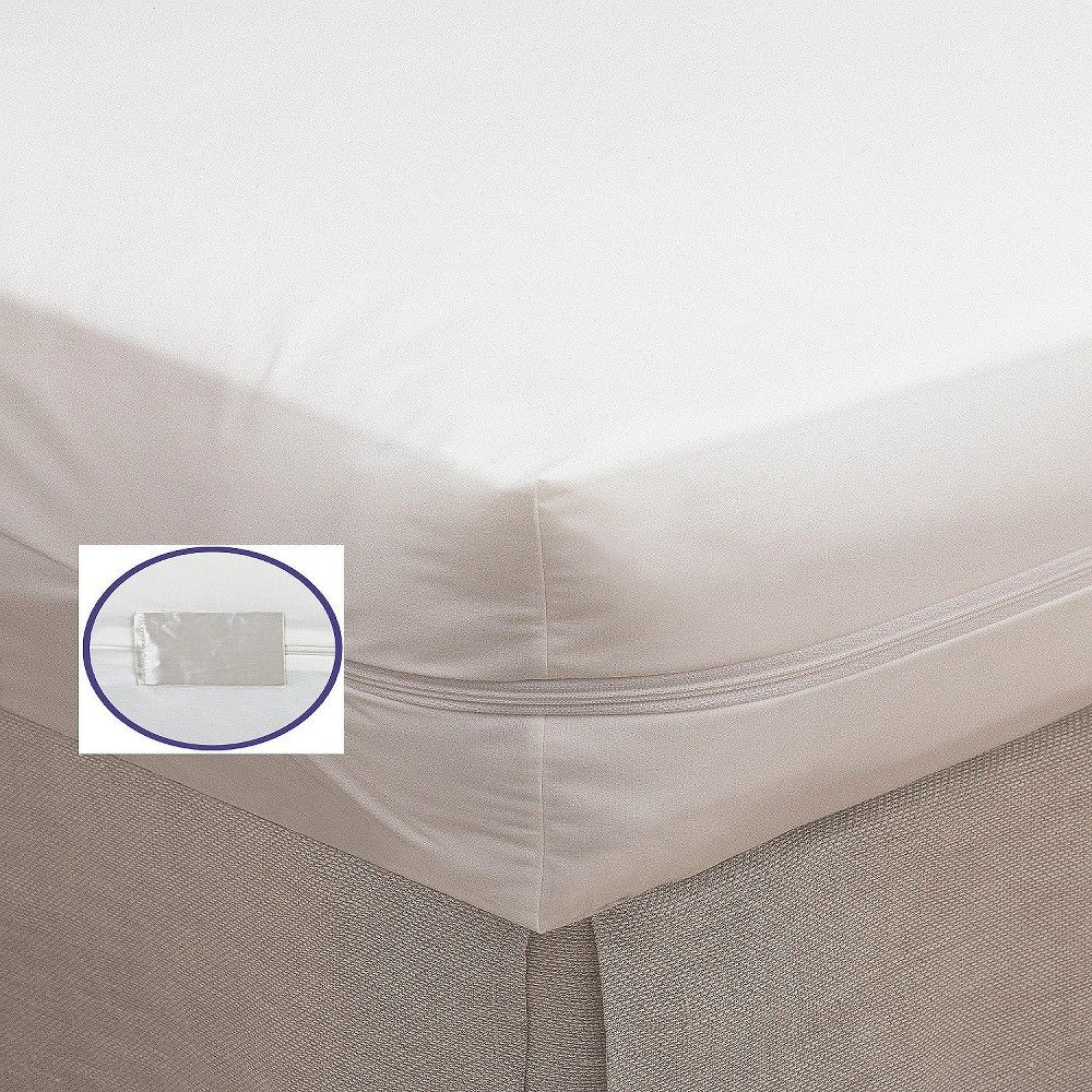 Bargoose Bedbug Proof Zippered Crib Mattress Cover, White