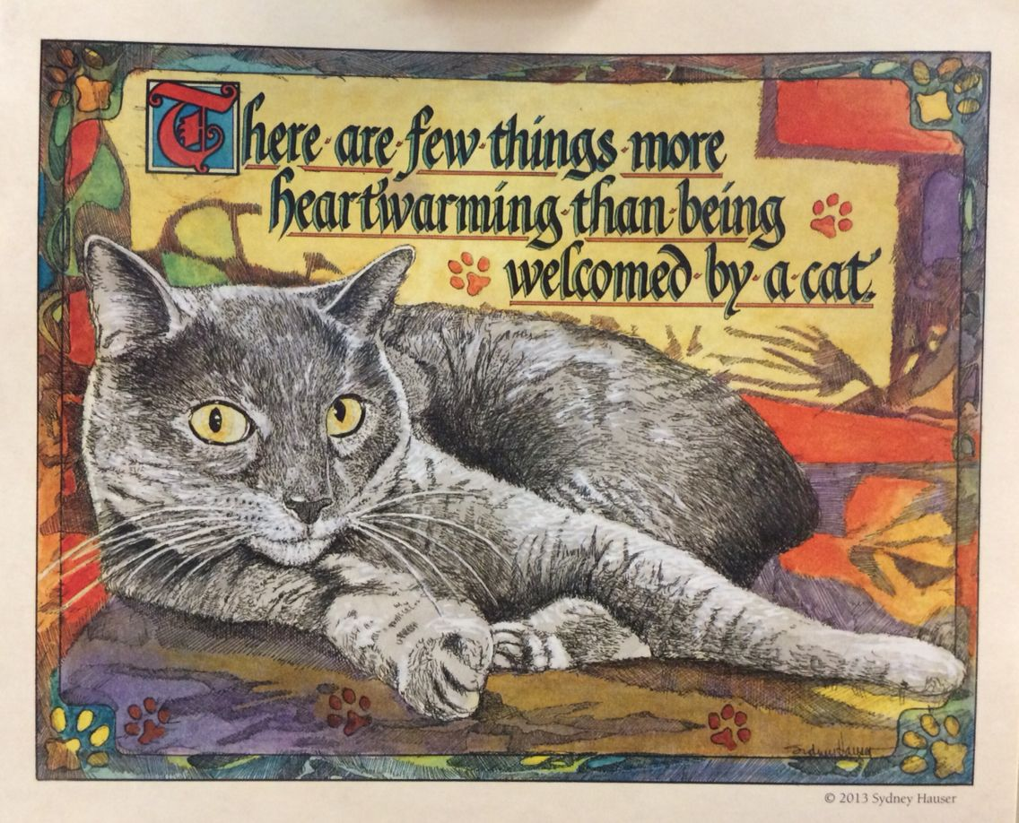 From The Proverbial Cat Calendar