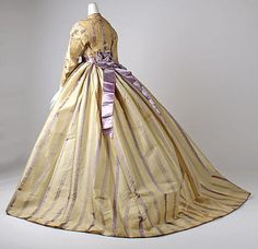 crinoline 1860-1870 day dress