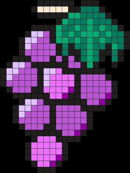 Grapes Perler Bead Pattern Dessin Quadrillé Dessin Pixel