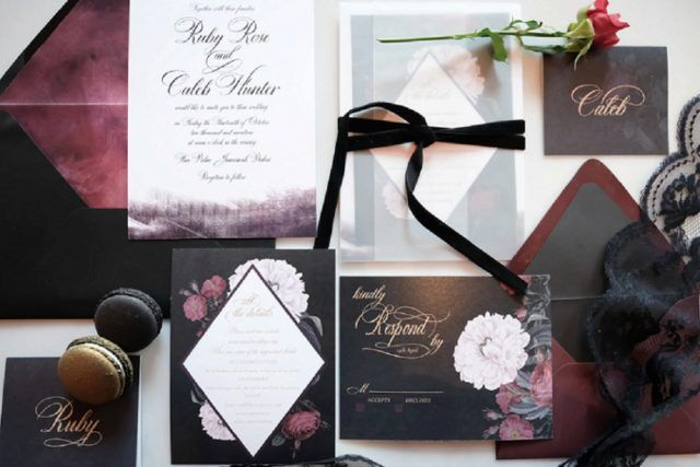 Opulent Gothic Wedding Inspiration Weddings Invitations And