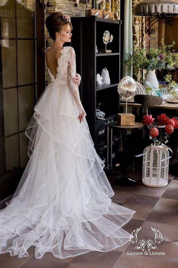 Brautkleid Langarm | Langarm Brautkleid Hochzeitskleid Hochzeit Von Dresseslioness