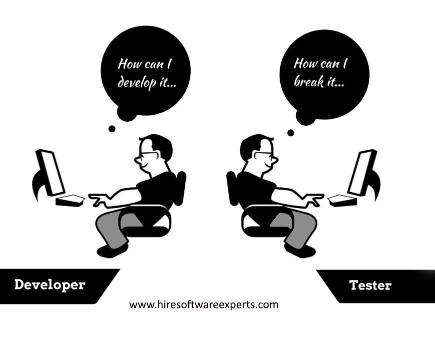 Developer vs. Tester #developer_vs_tester #testing #bug #
