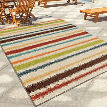 Orian Rugs Montreal Collection Multi Colour Outdoor Area Rug